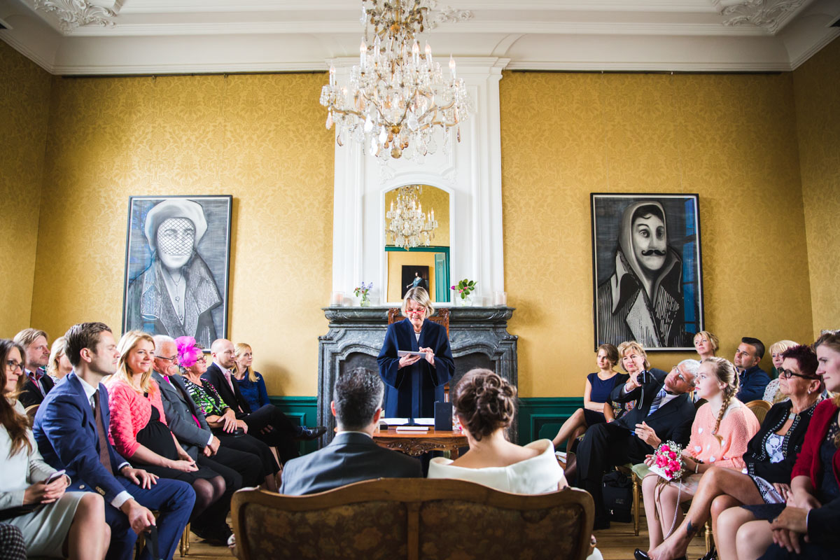 Ceremonie in de Grote Salon